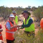 Collecting vegetation samples under permit