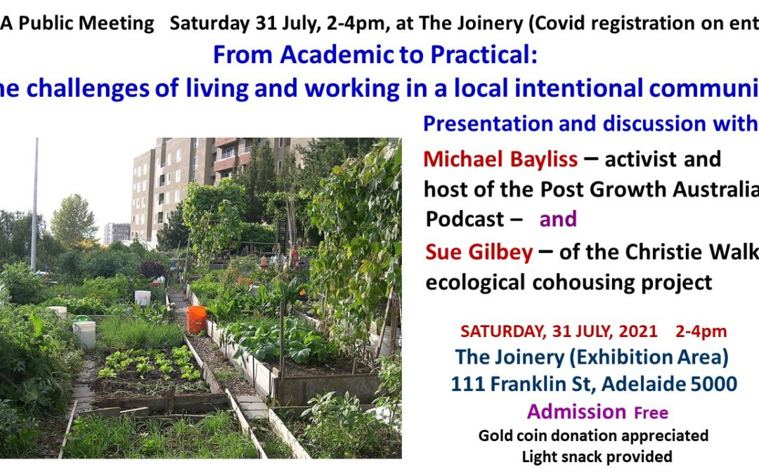 The challenges of living and working in an international community – this Saturday at the Joinery
