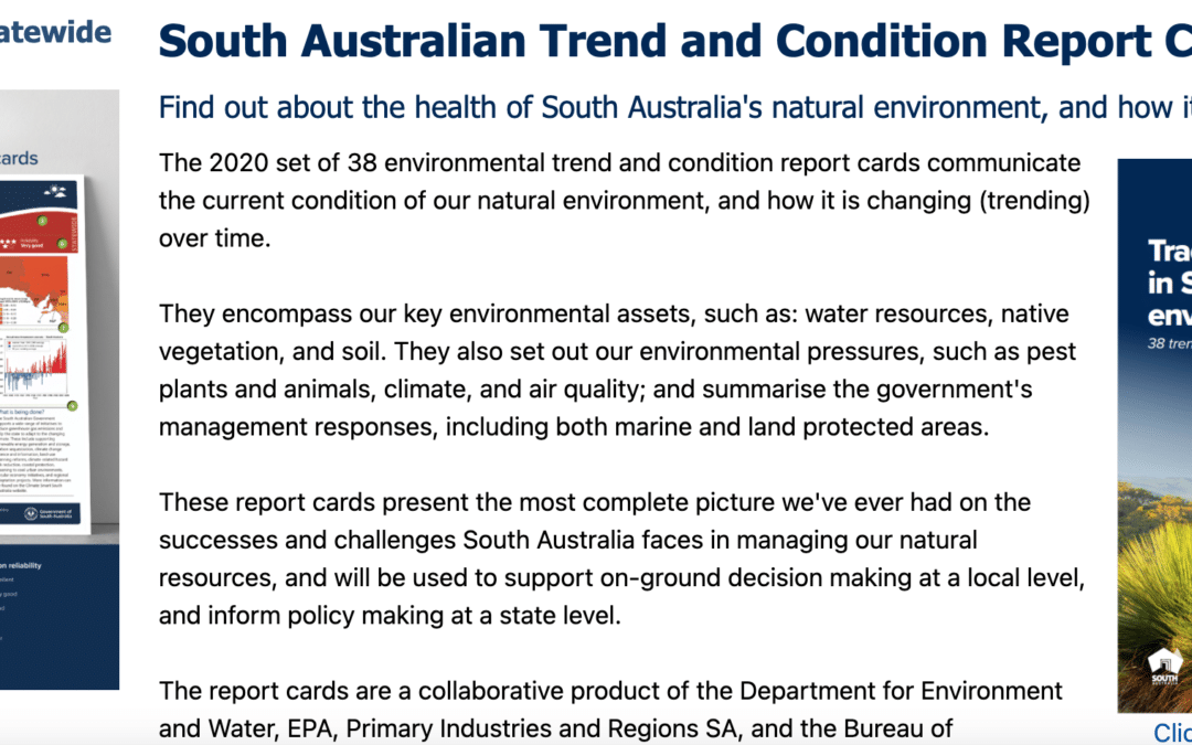 New Report Cards released on the State of the SA environment
